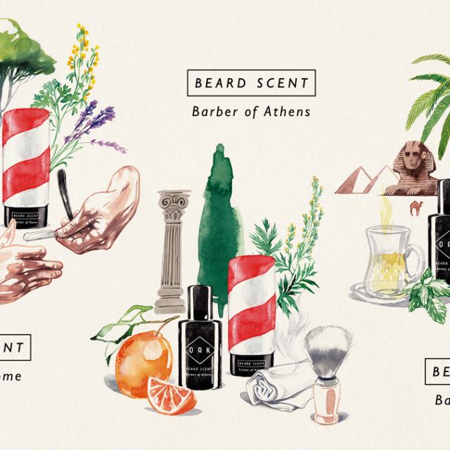 Illustration der beard scents