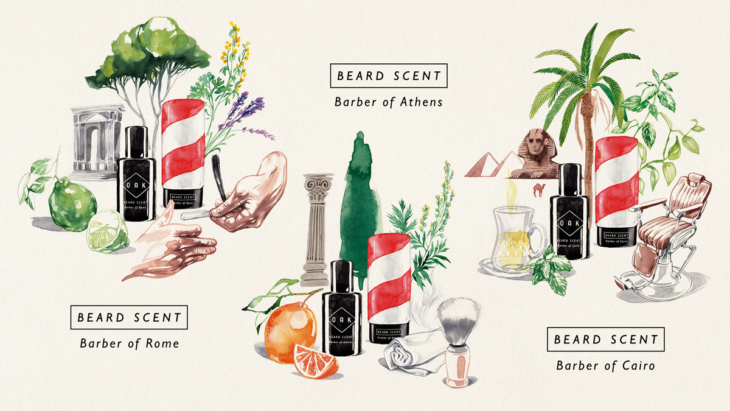 Illustration der beard scents